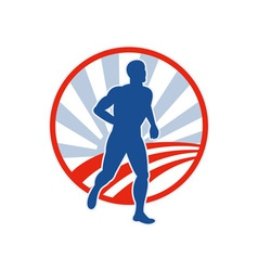 Phyiscal fitness marathon runner jogging vector image vector image