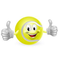 tennis ball mascot vector image vector image