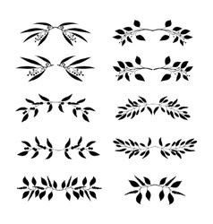 Elegant floral decorative elements set vector image vector image