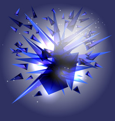abstract background an explosion of colored vector image