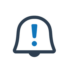 Alert reminder icon vector