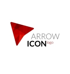 arrow logo icon Business arrow concept vector image
