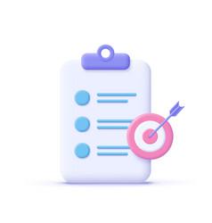 Assignment target icon clipboard checklist symbol vector