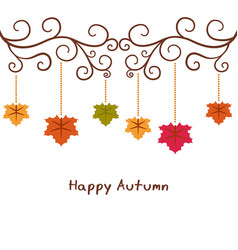 autumn background with leaves autumn background vector image