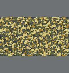 autumn yellow camouflage pattern seamless fabric vector image