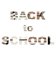 back to school books vector image