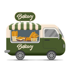 Bakery street food caravan trailer vector