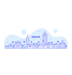 bangalore skyline karnataka india city line vector image