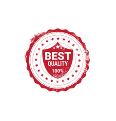 best quality sticker red grunge stamp isolated vector image