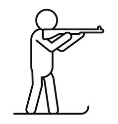 biathlon shooting icon outline style vector image