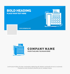 blue business logo template for fax message vector image