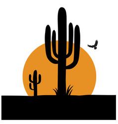 cactus desert symbol arizona logo cactuses vector image
