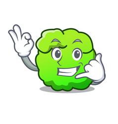 Call me shrub mascot cartoon style vector