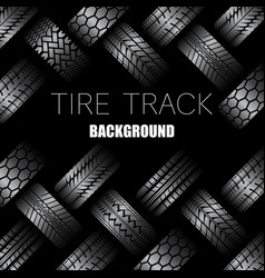 Cars tire tracks with text vector