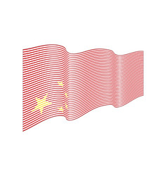 china flag on white background wave stripe vector image