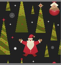 christmas holiday xmas seamless pattern vector image