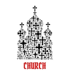 Church icon Religion christianity cross symbols vector image