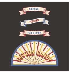 Circus vintage label banner vector