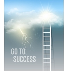 Cloud stair the way to success in blue sky vector
