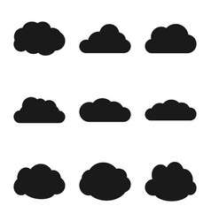 cloud web icons set simple collection vector image