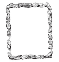 Coin border have so many coins in this frame vector