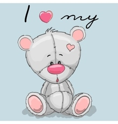 Cute Cartoon Teddy vector image