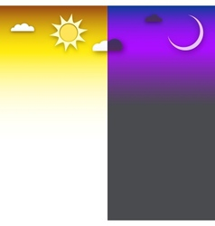 Day and night background vector
