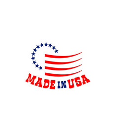 emblem with stars made in usa vector image