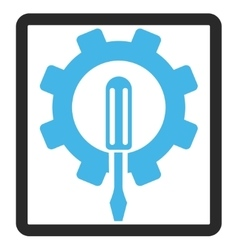 Engineering Framed Icon vector