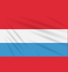 Flag luxembourg swaying in wind realistic vector