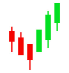 Flat candlestick chart icon vector