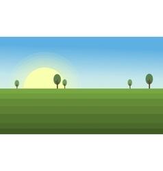 flat landscape design vector image