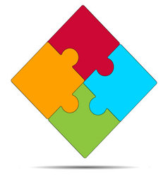 Folded puzzle icon vector