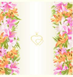 frame floral vertical border festive background vector image