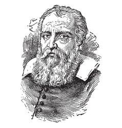 Galileo galilei vintage vector