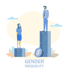 gender inequality flat style design vector image
