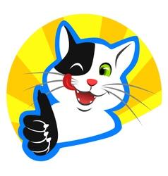 Happy cat vector image