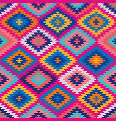 happy kilim seamless repeating pattern vector image