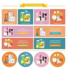 Household and Beverages Food Cosmetic vector image