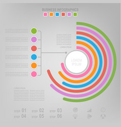 infographic of circle element flat design vector image