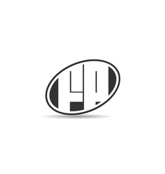 initial letter fp logo template design vector image