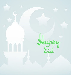 Light islamic background with mosque vector image