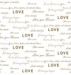 Love letters seamless pattern on white vector