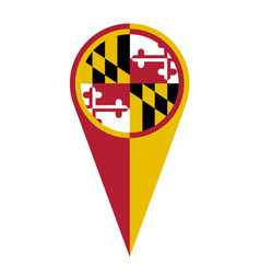 Maryland map pointer location flag vector