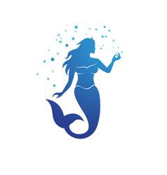 mermaid design vector image