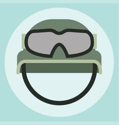 Military modern camouflage helmet army symbol vector