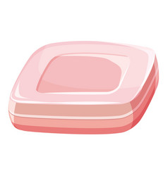 Pink soap bar icon cartoon style vector