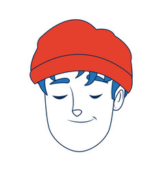 Portrait man young person cartoon vector