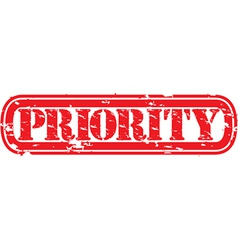 Priority grunge rubber stamp vector image