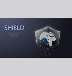 protected guard shield security concept security vector image